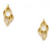 Simply Glamorous Jewellery And Gifts Shop - 18ct Gold Filled Flower Stud Earrings