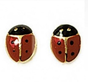 Simply Glamorous Jewellery And Gifts Shop - 18ct Gold Filled Stud Lady Bird Earrings Children