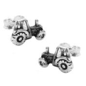 earrings single-studs tractor silver 925