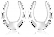 Jo for Girls Silver Horseshoe Stud Earrings