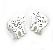 "Exclusive Design Sterling 925 Silver Sheep Farm Animal Stud Earrings Jewellery Gift 2cm / 0.8"""