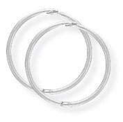 9ct White Gold 14mm Thin Hinged Sleeper Earrings