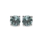 Jewellery-Schmidt-Blue topaz earrings 925 Sterling Silver Rhodium-0, 70 carats