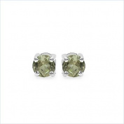 Jewellery-Schmidt-Rare green tourmaline earrings Silver Rhodium