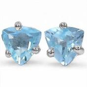 Jewellery-Schmid-Blue topaz earrings 925 Sterling Silver Rhodium-1, 00 carats