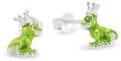 Heartbreaker Froggy LD FG 24 GR Silver Stud Earrings