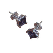 Blue Sapphire Gemstone Studded 925 Sterling Silver Stud Earrings