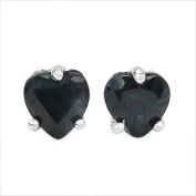 Jewellery-Schmidt-Earring Sapphire Hearts Sterling Silver Rhodium-1, 00 carats