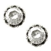 Handmade Formal Wear Zirconia Stud Earring in 92.5 Sterling Silver