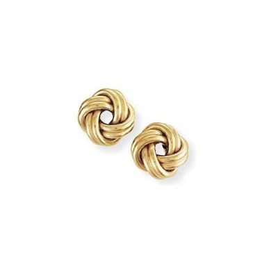 9ct Gold Knot Earrings 9mm