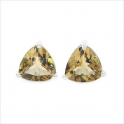 Jewellery-Schmidt-Earrings / Studs Trillion (triangles)-Citrine-925 Silver Rhodium-2, 00 carats