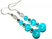 Make It With Beads Turquoise Glass Crackle Bead Earrings Kit