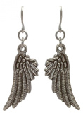 Silver Angel wings Antique Tibetan Earrings