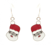 Zest Abstract Santa Father Christmas Face Drop Earrings for Pierced Ears