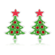 Christmas costume jewellery earrings - Xmas Tree Fashion earrings - Suitable for women and children - Matching necklace available - Will arrive in a gift bag perfect stocking filler