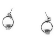 Zirconium Crystal Earrings on 925 sterling silver hooks