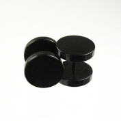 Jewellery of Lords Black Stainless Steel Faux Fake False Stretcher Tunnel Plug Earring Stud