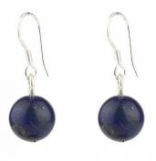 Lapis lazuli 8 mm Earrings on 925 silver hooks