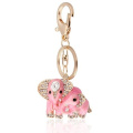 Handbag Buckle Charms Accessories Pink Elephants Keyrings Key Chains HK37