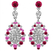 OMYGOD Crystal teardrop earrings - pink and clear