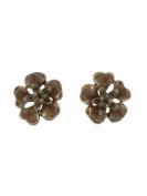 Lovett & Co Vintage Enamel Flower Stud Earrings, Size One Size