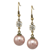 Pearl Drop Earrings with. Crystals