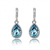 Rarelove. Elements Crystal Aquamarine Crystal Teardrop Dangle Earrings