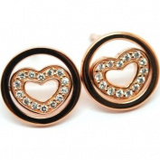 Babette Wasserman ER189G Ladies Twisting Heart Earring