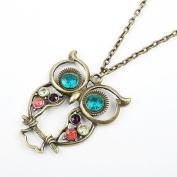 Stone River Jewellery Owl Pendant Necklace Vintage Style