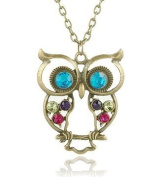 Vintage Style Owl Pendant on Long Chain