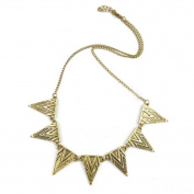 Gothic Bronze Alloy Geometric Triangle Necklace