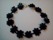 black daisy chain hippy chick lace choker