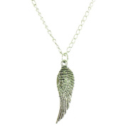 ilovefj Silver Single Angel Wing Necklace