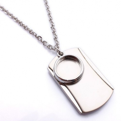 K Mega Jewellery Army Style Cool Silver Ring Mens Dog Tag Pendant Necklace