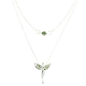ilovefj Clear Crystal on Silver Plated Lucky Angel Necklace