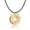 Lucky Chinese gold coin necklace for men and boys - includes gift bag