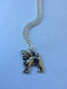 Silver Pug Necklace