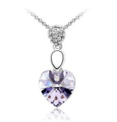 Tiara Platinum Plated Short Paragraph Collarbone Heart Necklace