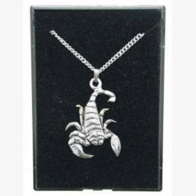 Fine Quality English Pewter Pendant Necklace Gift, Scorpio Horoscope Design