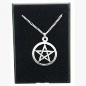 Fine Quality English Pewter Pendant Necklace Gift, Pentangle Design