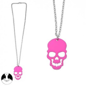 Sg Paris Fashion Jewellery Necklace Teenager Metal Pink Skull
