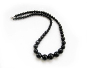 Ovalbuy Black Agate Beads Necklace