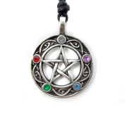 Mystical & Magical Pewter Pentacle of Life Pentagram Wiccan Pagan Gothic Pendant