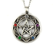 Mystical & Magical Pewter Celtic Pentacle of Life Pentagram Wiccan Pagan Gothic Pendant- Supplied on a 46cm Chain