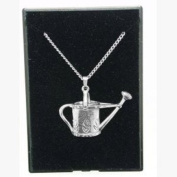 Fine Quality English Pewter Pendant Necklace Gift, Gardening Design