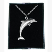 Fine Quality English Pewter Pendant Necklace Gift, Dolphin Design