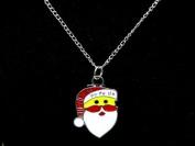 Blingalove Santa Pendant On Silver Colour Chain Necklace