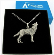 Wolf Pewter Pendant