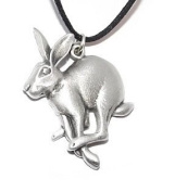 Mad March Hare Pewter Pendant