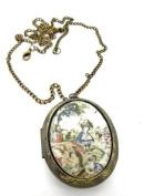 Alice in Wonderland Scene Locket Necklace